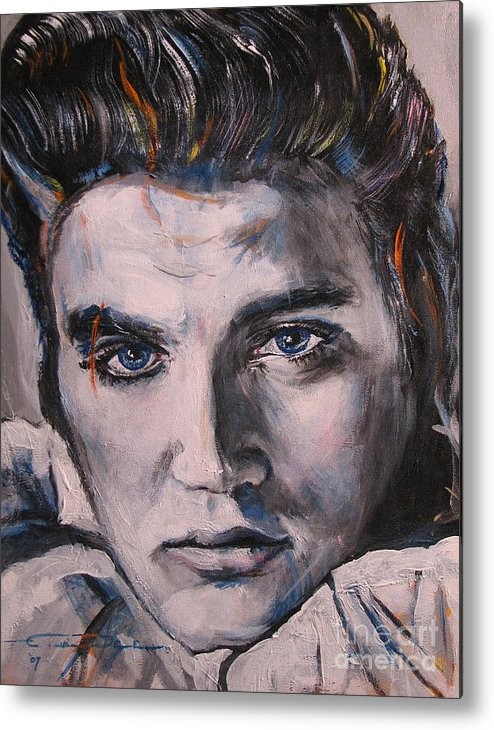 Elvis Presley Metal Print featuring the painting Elvis 2 by Eric Dee