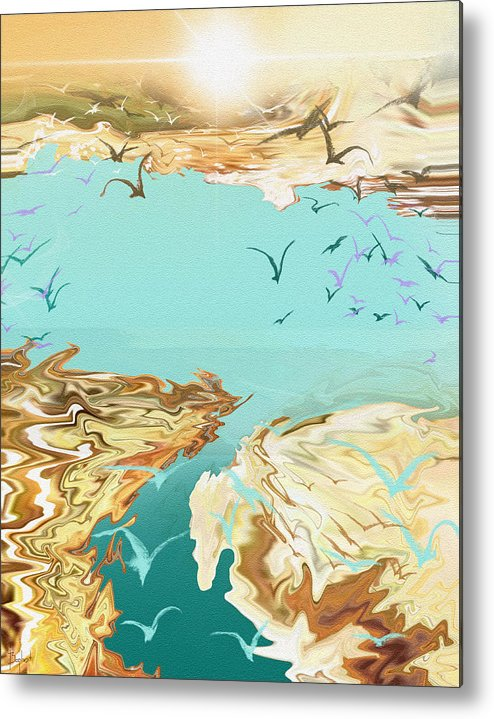 Emigration Metal Print featuring the digital art Emigration by Boghrat Sadeghan