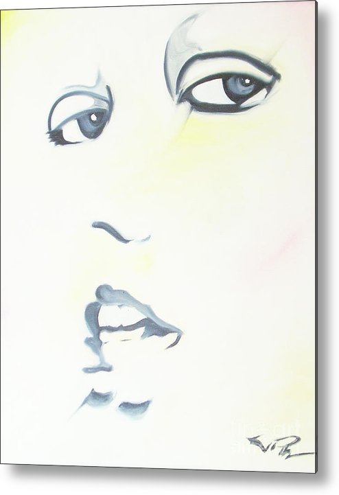 Essense Metal Print featuring the painting Essense by Joseph Palotas