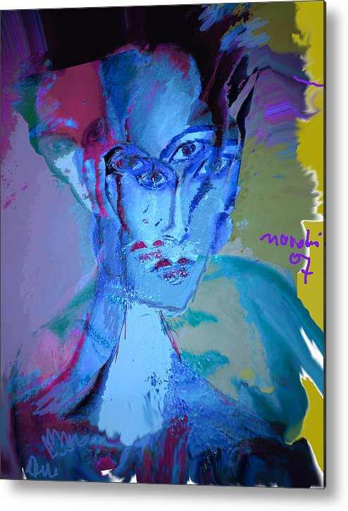 Human Compostion Metal Print featuring the painting Faces Of Eve by Noredin Morgan