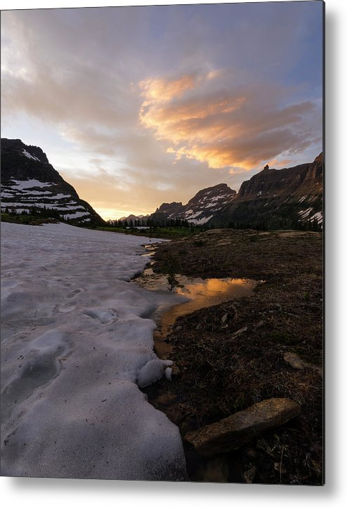 Snow Metal Print featuring the photograph Fire And Ice by Dan Golden
