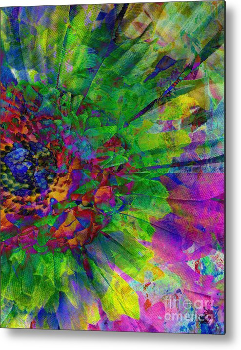 Floral Expressions Ii Metal Print featuring the mixed media Floral Expressions II by Ricki Mountain