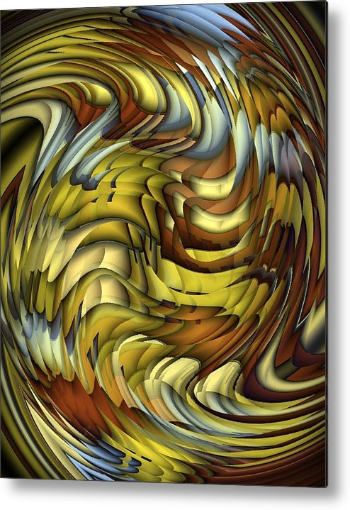 Abstract Metal Print featuring the digital art Flutter by Terry Mulligan