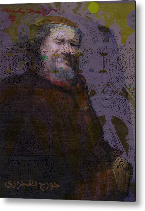 Metal Print featuring the painting Goerge Bahgory by Noredin Morgan