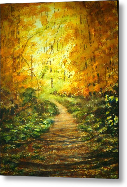 Landscape Metal Print featuring the painting Golden Arches L by Shirley Braithwaite Hunt