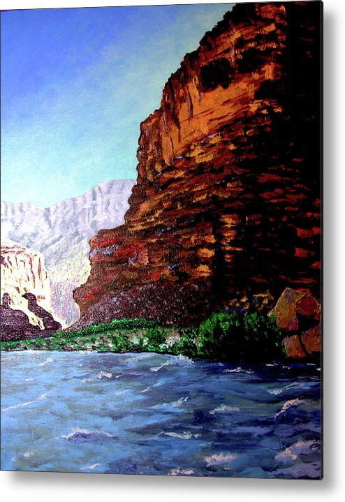 Oiriginal Oil On Canvas Metal Print featuring the painting Grand Canyon II by Stan Hamilton