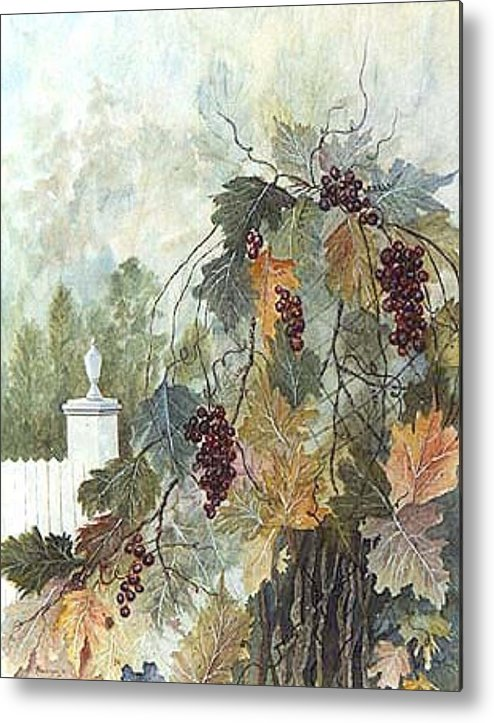 Fruit Metal Print featuring the painting Grapevine Topiary by Ben Kiger