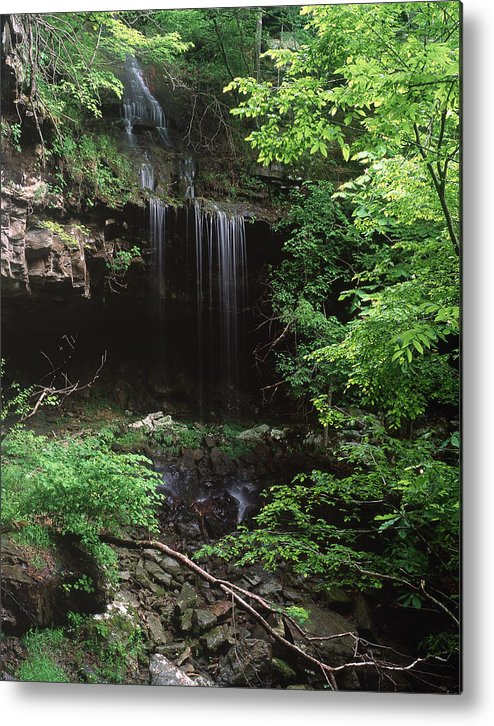 Metal Print featuring the photograph Green-falls by Curtis J Neeley Jr