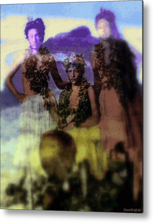Tropical Interior Design Metal Print featuring the photograph He Hohona Aeoia by Kenneth Grzesik