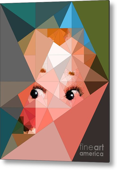 Abstract Photo Metal Print featuring the photograph Here's Lookin At You by Deborah Selib-Haig DMacq
