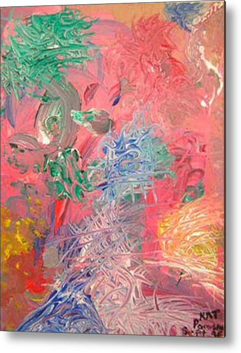 Abstract Metal Print featuring the painting Hidden Dreams by Natalee Parochka