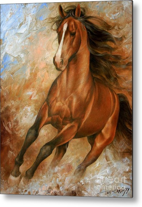 Horse Metal Print featuring the painting Horse1 by Arthur Braginsky