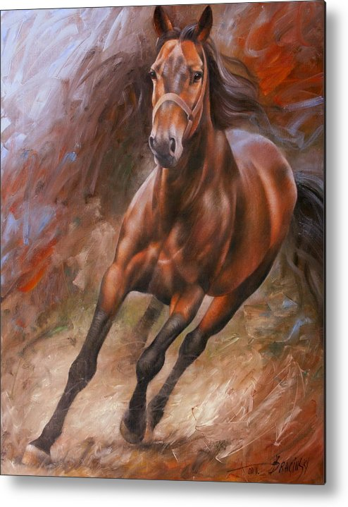 Art Metal Print featuring the painting Horse2 by Arthur Braginsky