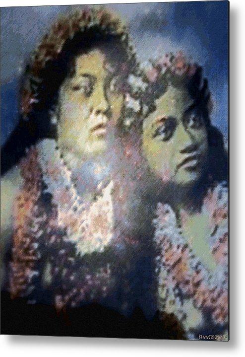 Tropical Interior Design Metal Print featuring the photograph Hula Kaika Ma Hine by Kenneth Grzesik