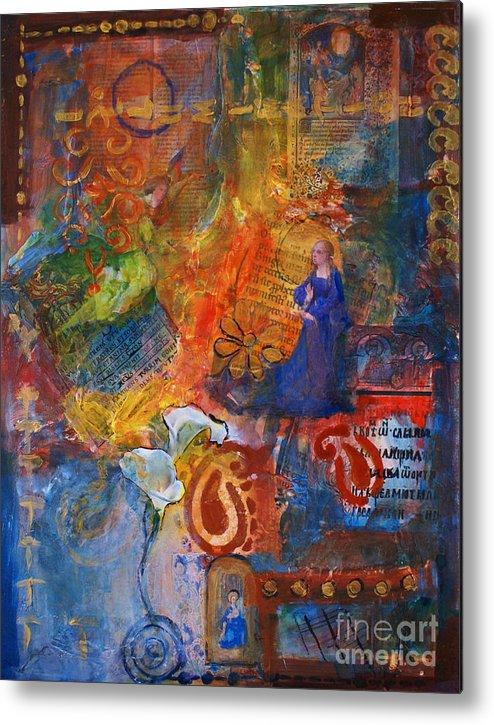 Mixed Media Painting Metal Print featuring the mixed media Illuminated by Ishita Bandyo