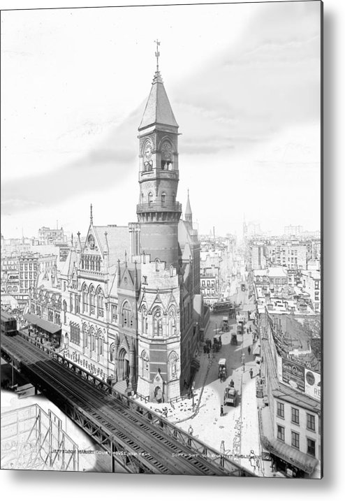 Photograph Metal Print featuring the photograph Jefferson Market New York by Karla Beatty