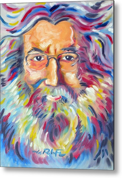 Jerry Garcia Metal Print featuring the painting Jerry Garcia by Joseph Palotas