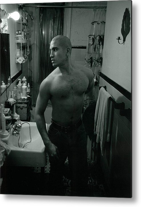 Portrait Metal Print featuring the photograph Jesse After Shaving His Head by Rusty Walton