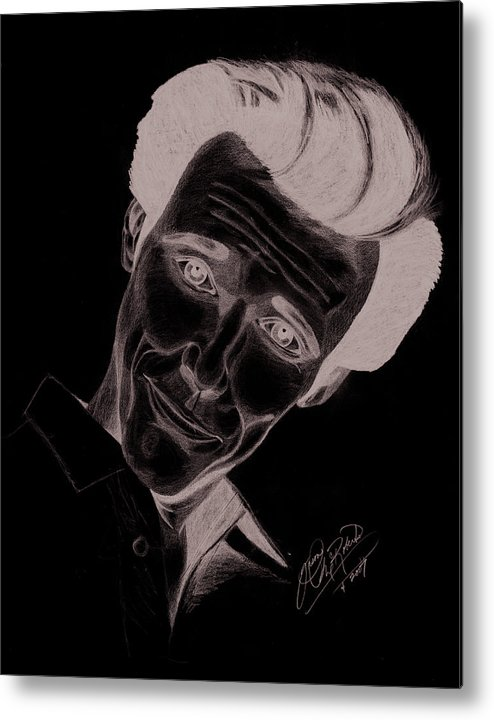Jim Carey Metal Print featuring the drawing Jim Carey by Jason McRoberts
