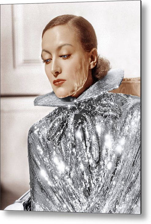 1930s Fashion Metal Print featuring the photograph Joan Crawford, Photo By Hurrell, Ca by Everett