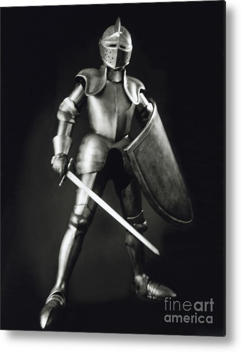 Knight Metal Print featuring the photograph Knight by Tony Cordoza