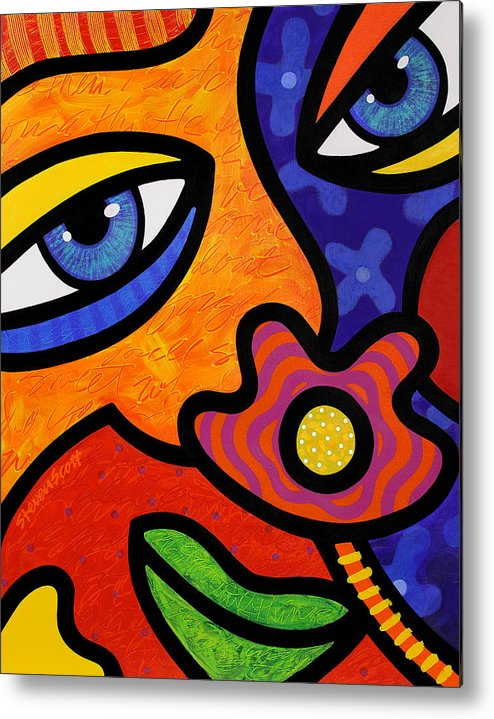 Eyes Metal Print featuring the painting Lilli Lilligrin by Steven Scott