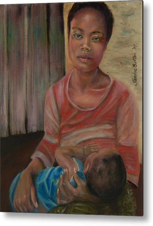 Mother Metal Print featuring the painting Love And Despair by Sandra Butler