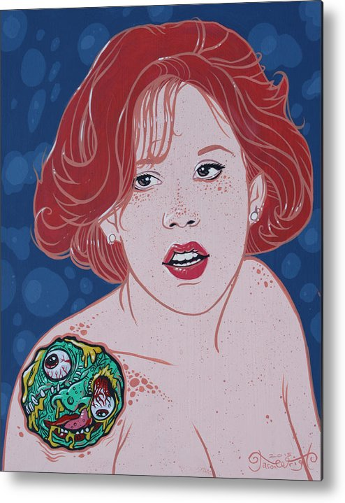 Molly Ringwald Metal Print featuring the painting Mad Molly Original Available by Jason Wright