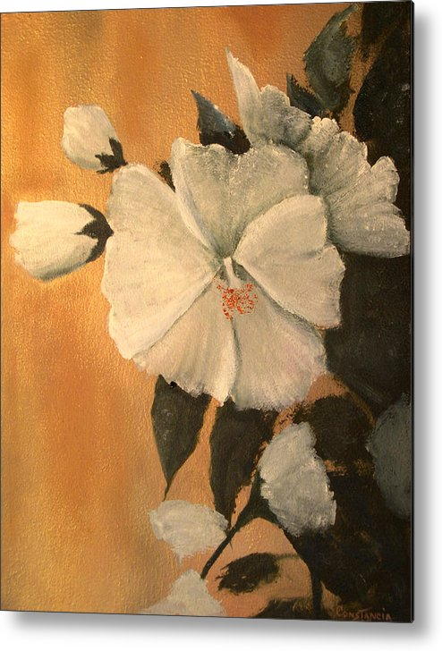 A Painting A Day Metal Print featuring the painting Mallow by Connie Tom