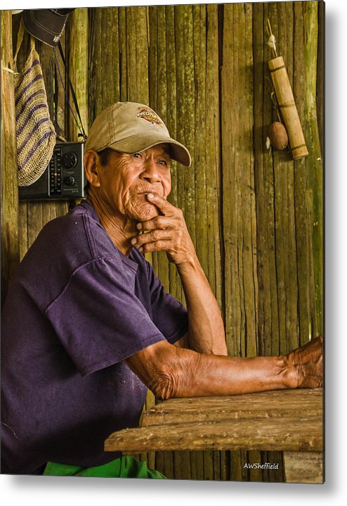 Peru Metal Print featuring the photograph Man Of The House by Allen Sheffield