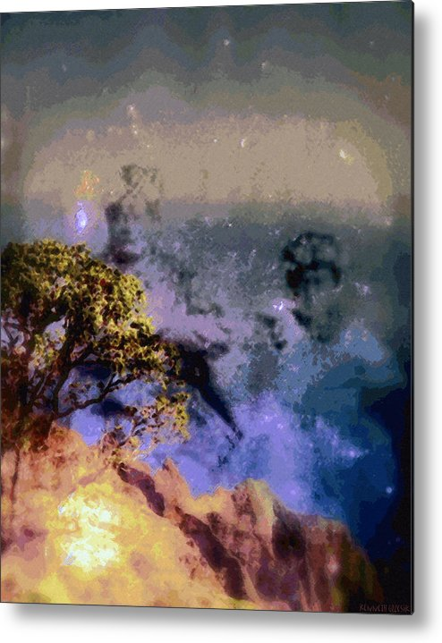 Rainbow Colors Digital Metal Print featuring the photograph Manahuna by Kenneth Grzesik