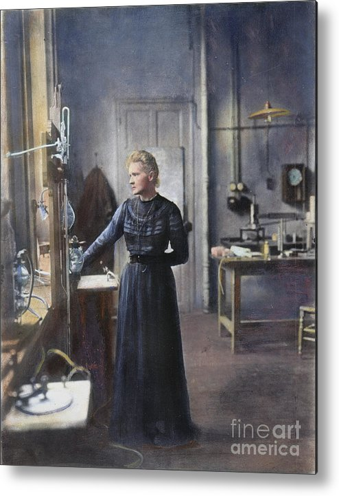 1908 Metal Print featuring the photograph Marie Curie (1867-1934) by Granger