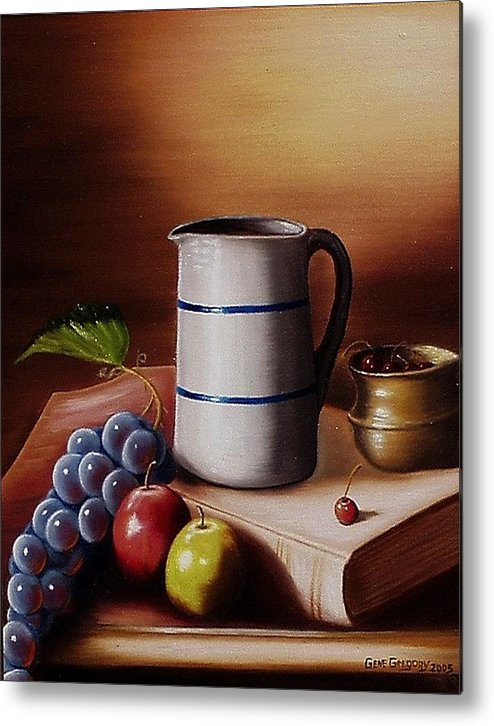 Still Life Metal Print featuring the painting Maws Pitcher by Gene Gregory