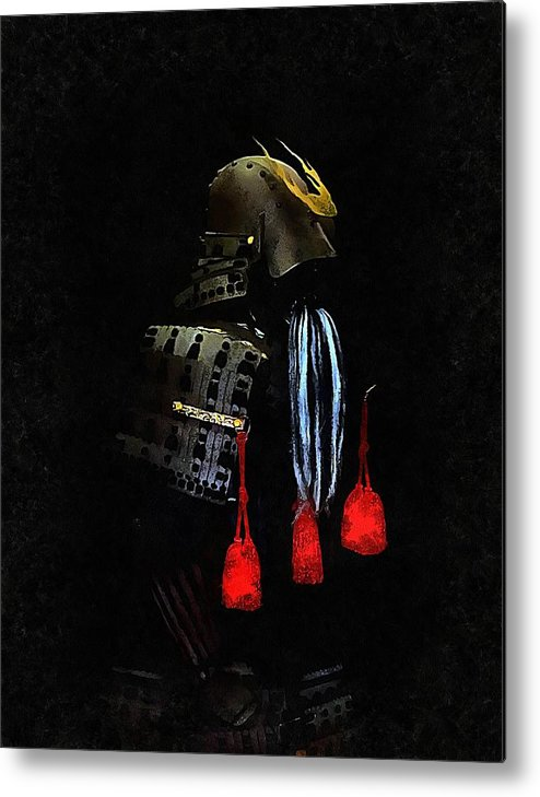 Samurai Helmet Metal Print featuring the photograph Memories Of Samurai 6 by Dorothy Berry-Lound
