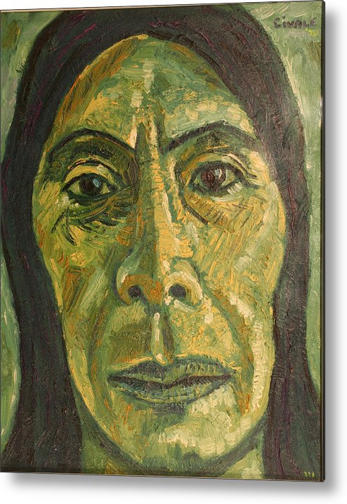 Metal Print featuring the painting Mexican Woman by Biagio Civale