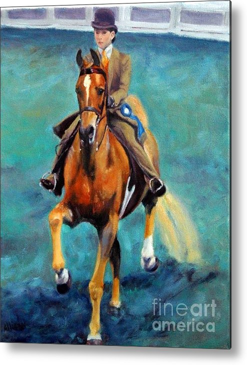 Portrait Metal Print featuring the painting Mollie And Petite Princess by Stephanie Allison