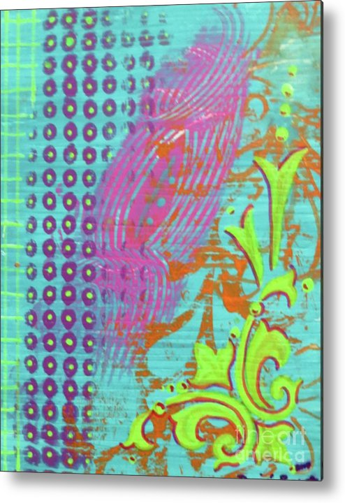Contemporary Art Metal Print featuring the mixed media Morning Glory by Desiree Paquette