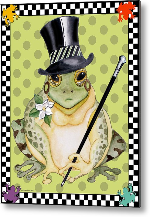 Animals Metal Print featuring the print Mr. Beau Frog by Kay Robinson