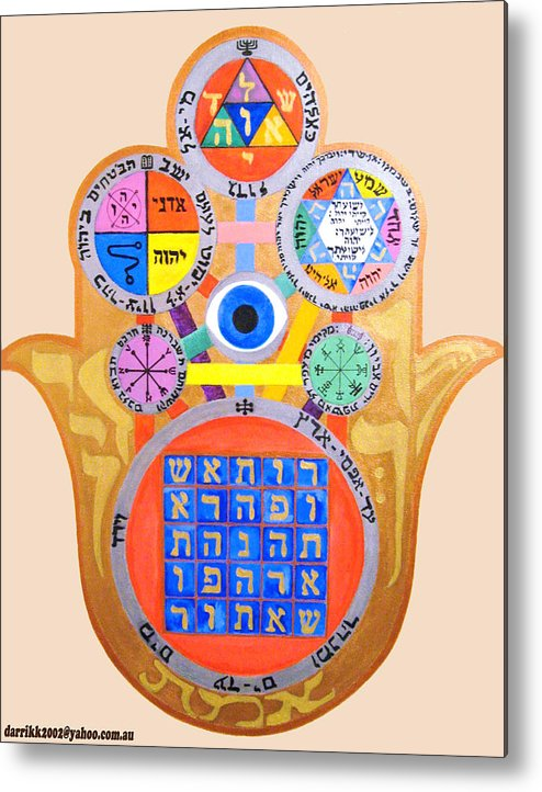 Multiple Metal Print featuring the painting Multiple Solomaic Amulets by Darren Stein