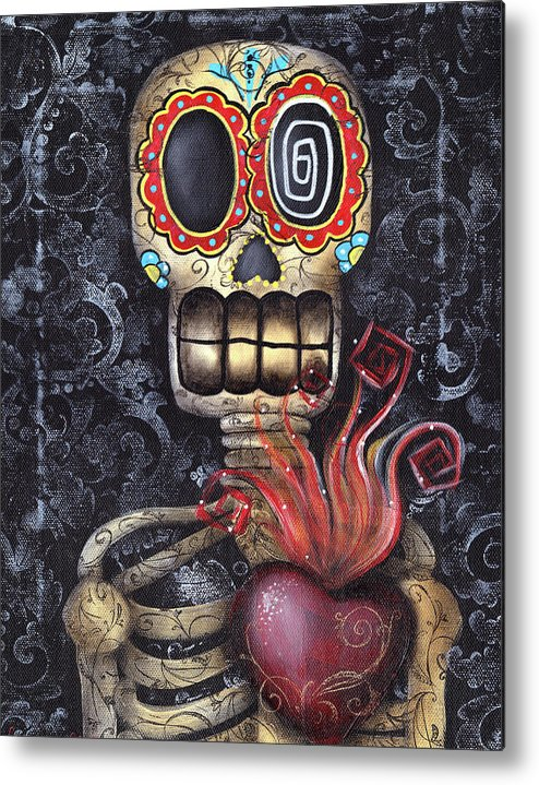 Sacred Heart Metal Print featuring the painting My Sacred Heart by Abril Andrade Griffith