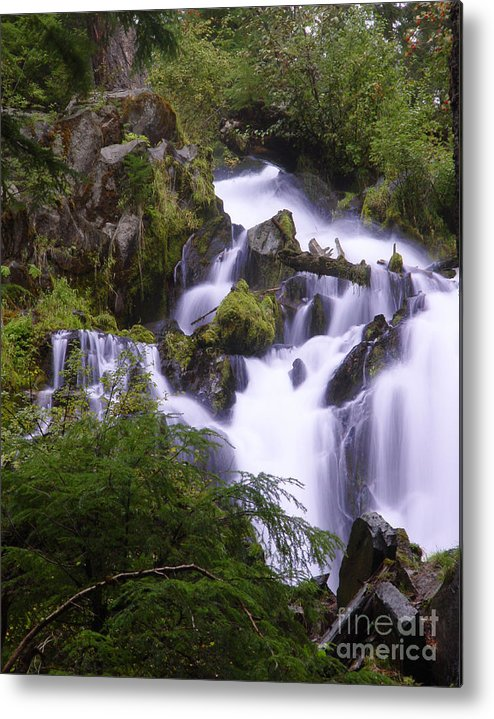 Waterfall Metal Print featuring the photograph National Creek Falls 05 by Peter Piatt