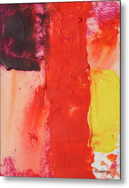 Abstract Metal Print featuring the painting No.17 by Mordecai Colodner
