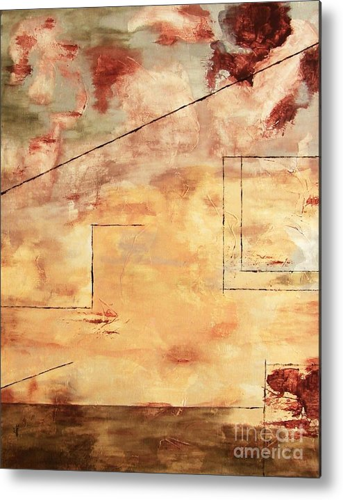Abstract Metal Print featuring the painting On The Verge by Itaya Lightbourne