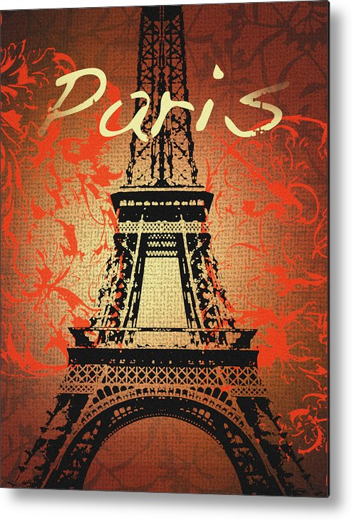 Paris Metal Print featuring the mixed media Paris In The Fall by Malcolm Watson