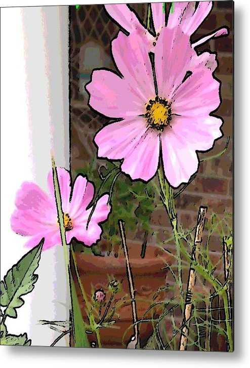 Flowers Pink Metal Print featuring the photograph Pink Flowers Of Summer by Deb Schneider