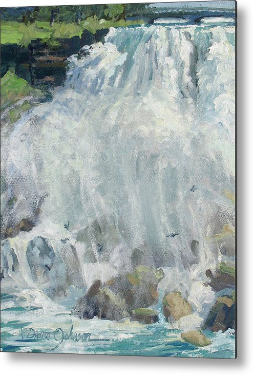 Niagara Falls Metal Print featuring the painting Playing In The Mist - Niagara Falls by L Diane Johnson