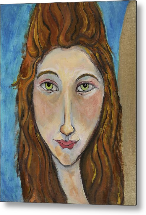 Portrait Metal Print featuring the painting Portrait Of A Girl by Michelle Spiziri