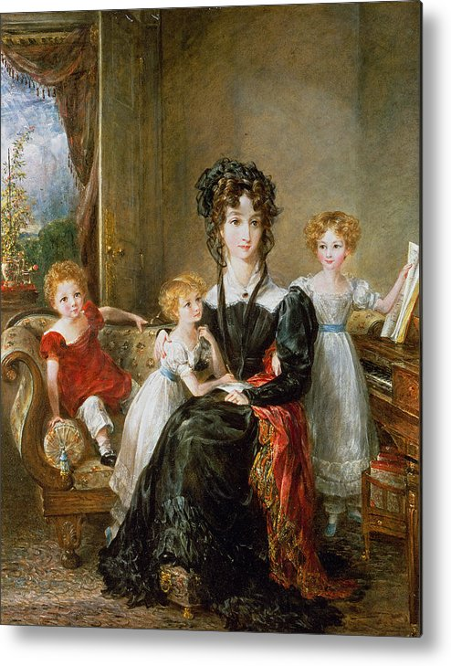 Portrait Metal Print featuring the painting Portrait Of Elizabeth Lea And Her Children by John Constable