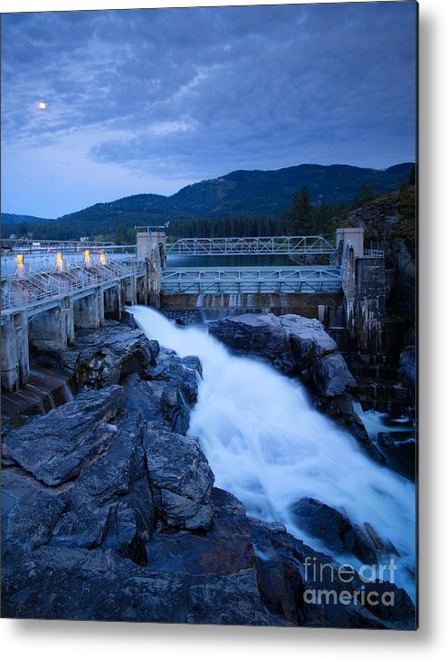 Dam Metal Print featuring the photograph Post Falls Dam by Idaho Scenic Images Linda Lantzy