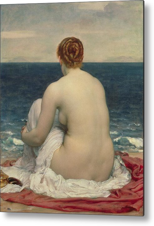 Psamanthe Metal Print featuring the painting Psamanthe by Frederic Leighton